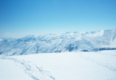 High mountains under snow Stock Photography