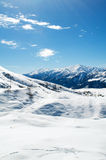 High mountains under snow Stock Image