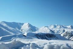 High mountains under snow Stock Photo