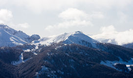 High mountains under snow in the winter Stock Photography