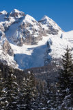 High mountains under snow in the winter Royalty Free Stock Images