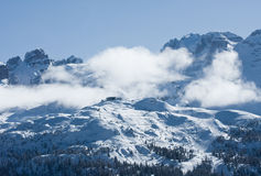 High mountains under snow in the winter. Italy Stock Photo