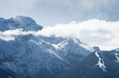 High mountains under snow in the winter. Italy Royalty Free Stock Photos