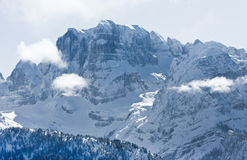 High mountains under snow in the winter Stock Image