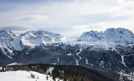 High mountains under snow in the winter. Italy Stock Photography