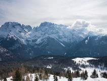High mountains under snow in the winter. Italy Stock Images