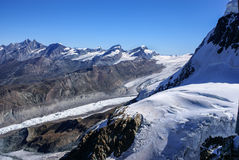 High mountains under snow in the winter Stock Images