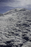 High mountains under snow in the winter Stock Photos