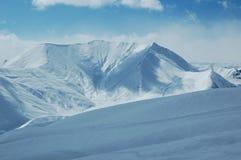 High mountains in winter. Georgia stock photo