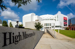 High Museum in midtown Atlanta stock image