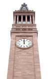 High Noon. 12:00 on a sandstone clock tower. City Hall in Brisbane, Queensland Australia. This clock tower is one of Brisbane's icons royalty free stock image