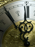 High noon. A part of a ancient clock Royalty Free Stock Image