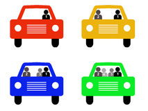 High occupancy Vehicle silhouettes Royalty Free Stock Photos