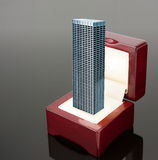 High office building in jewelry box Stock Images