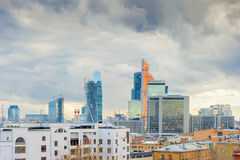 High office buildings in the capital of Russia. Royalty Free Stock Photos