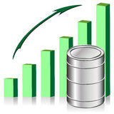 High oil price stock illustration