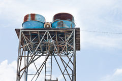 High old  water tank Royalty Free Stock Photography
