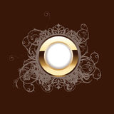 High Ornate Gold Ring Stock Image
