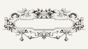 High Ornate Vintage  Banner. High Ornate Vintage Horizontal Banner Stock Photography