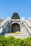 High Pagoda. Korean pagoda, high on top of a stone stairs Stock Photo