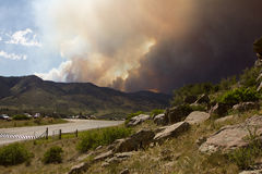 High Park Fire. Smoke from the High Park fire in Fort Collins Colorado Stock Images