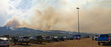 High Park Wild Fire in Colorado Panoramic Stock Image