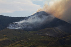 High Park Wild Fire in Colorado Panoramic Stock Photography