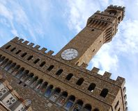 High part of Palazzo Vecchio, Florence, Italy Royalty Free Stock Photography