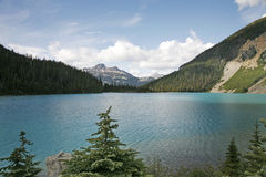High peak mountain glacier lake Royalty Free Stock Images