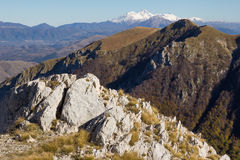 High peak mountains with snow Stock Photography