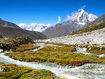 High Peak and River, Himalayas Mountains Royalty Free Stock Photography