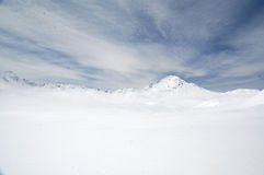 High peak snowfield Royalty Free Stock Photos