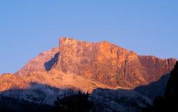 High peak at sunset Stock Image