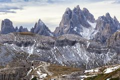 High peaks in Dolomites Stock Photo