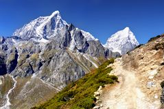 Himalayas Nepal Everest Mountains Trail Royalty Free Stock Photos