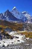 Himalayas Nepal Everest Mountains Trail Royalty Free Stock Photography