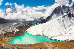 High Peaks and Lake, Himalayas Mountains Stock Photography