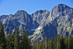 High peaks in the Polish Tatras mountains. Stock Image