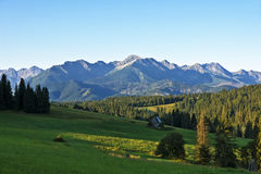 High peaks in the Polish Tatras mountains. Stock Photos