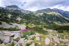 The high peaks of Rila Mountain stock photos
