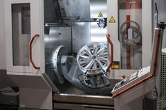 High-performance 5-axis CNC machining centre Royalty Free Stock Photography