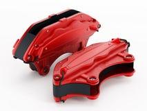 High performance brake calipers royalty free stock photo