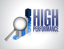 High performance business graph illustration Royalty Free Stock Photo