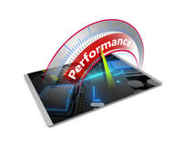 High performance computer tablet concept Royalty Free Stock Images