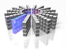 High performance database array Stock Photos