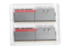 High performance DDR4 computer memory RAM new. In plastic packaging royalty free stock photography