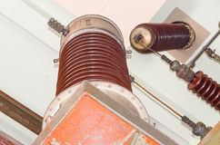 High performance electric insulators Royalty Free Stock Images