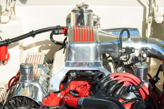 High performance engine bay Stock Image