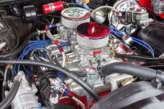 High Performance Engine Side Stock Photography