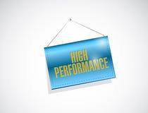 High performance hanging banner illustration Royalty Free Stock Photo